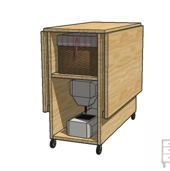A Sewing Table For Small Spaces   Plans And Instructions For An Expandable  Sewing Table.
