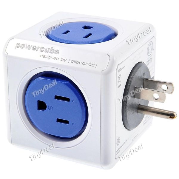 4200/USOUPC Allocacoc US Plug Power Cube Power Socket 5 Outlets Extended Charger Adapter ETAAD-396618
