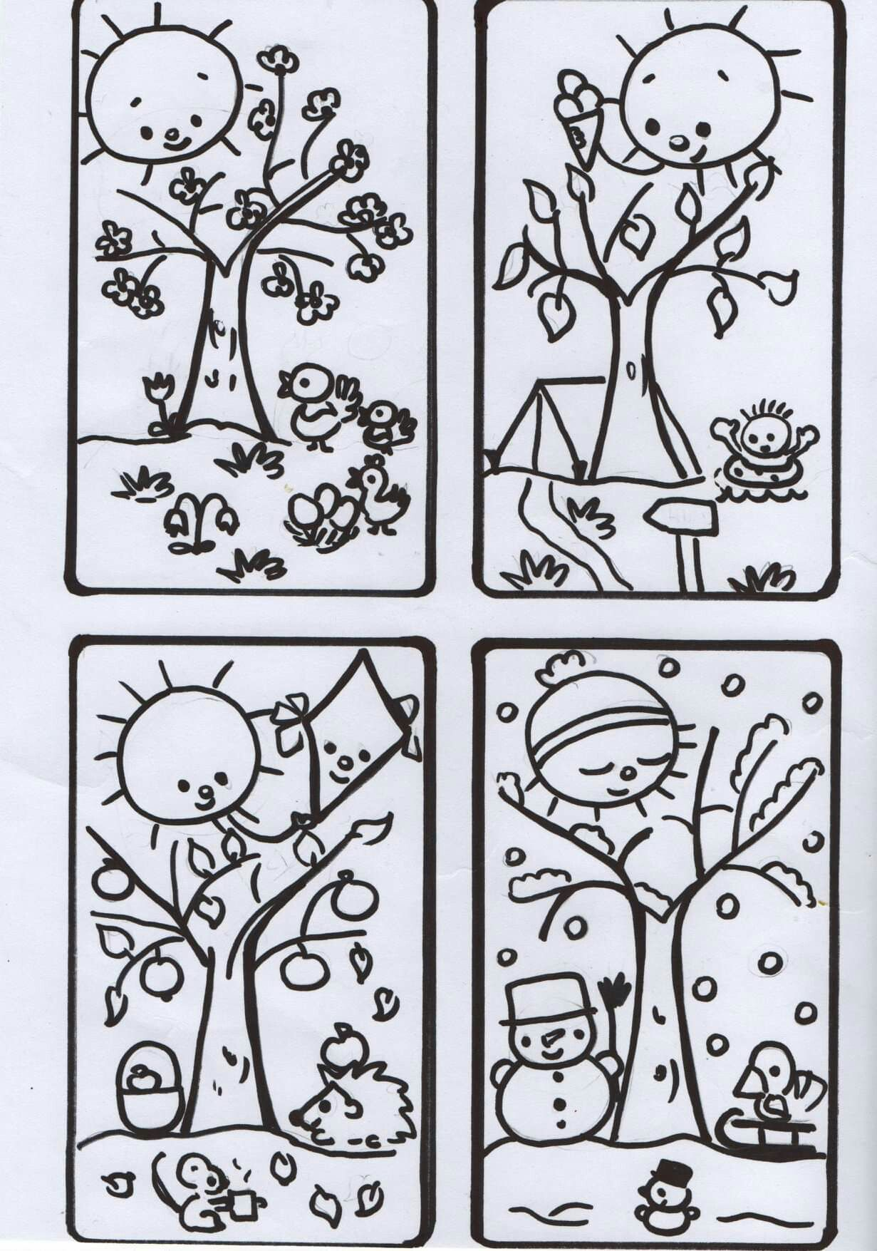 Pin By Zuzana On Rocne Obdobia Tracing Worksheets Preschool Coloring Pages Weather For Kids [ 1755 x 1231 Pixel ]