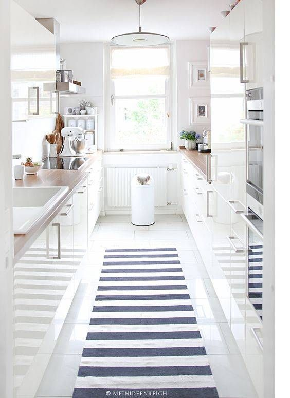 Small Galley Kitchen White modern loft-style galley kitchen | kitchen & dining | color