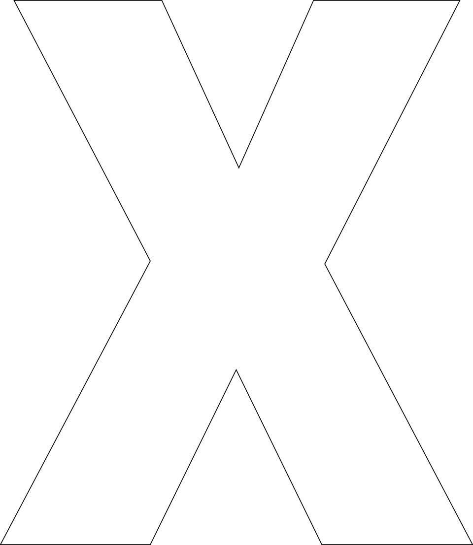 Free Printable Upper Case Alphabet Template | Alphabet ...