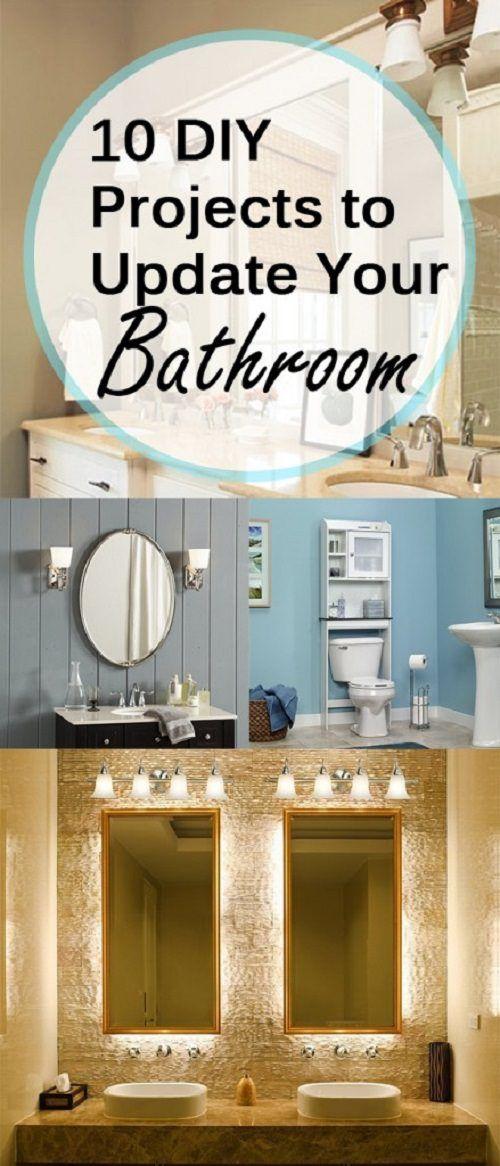 10 DIY Projects to Update Your Bathroom   Diy bathroom ...