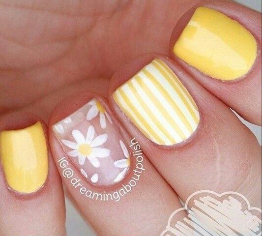 Yellow Uñas Amarillas Manicura De Uñas Y Uñas Decoradas