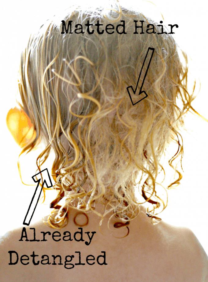 How To Detangle Matted Hair In 2020 Detangling Natural Hair Curly Hair Styles Diy Hair Detangler