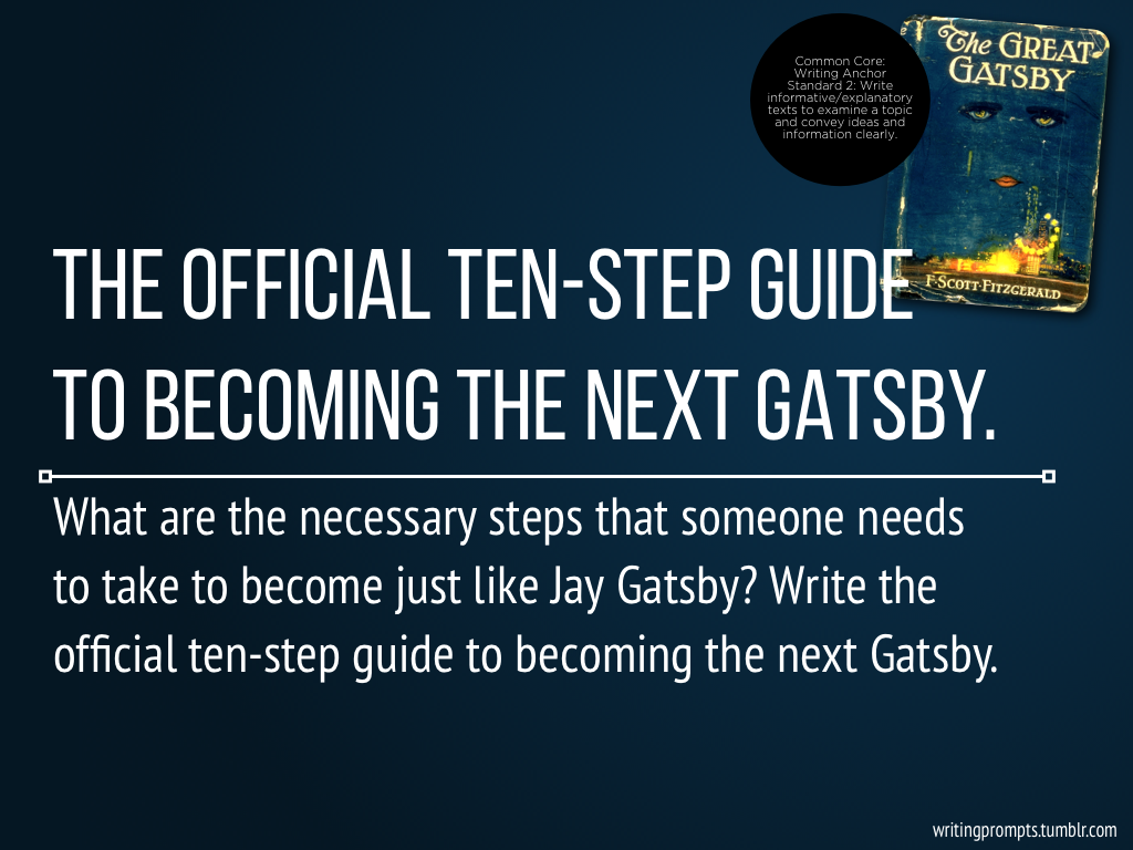 the great gatsby creative writing prompts