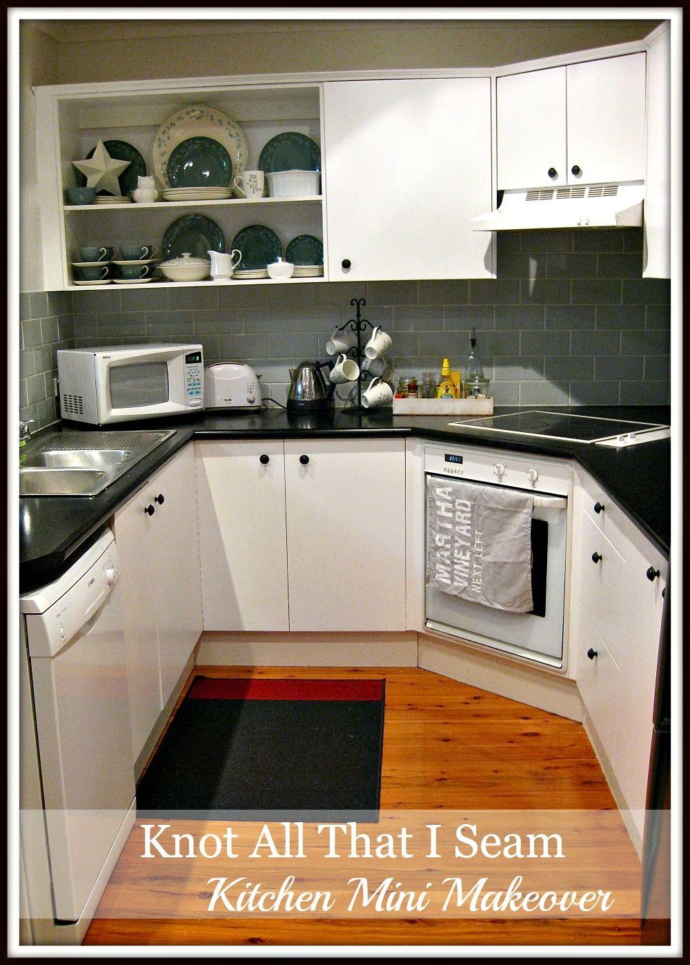 Knot All That I Seam Mini Kitchen Makeover Open Cabinet