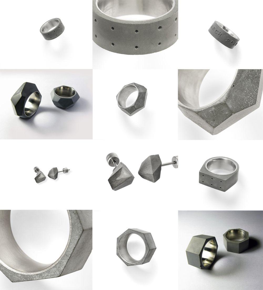 22 DESIGN STUDIOConcrete Smykker Cool concrete Pinterest