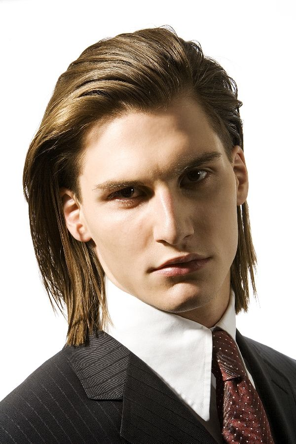 beautiful men's haircut for hair extensions  long hair