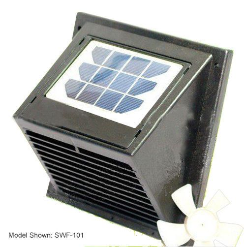 New Wall Solar Vent Fan For Bathroom Basement Greenhouse Shed
