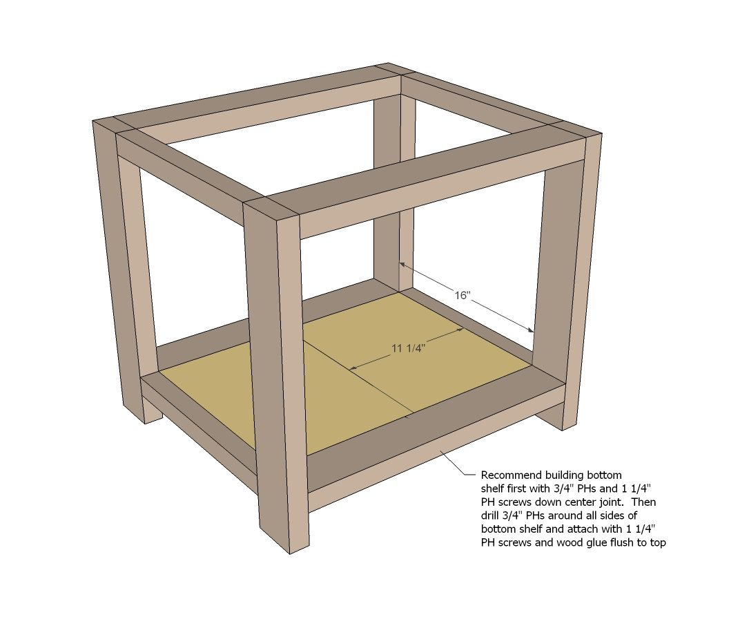 ana white build a rustic x end table free and easy diy project and - Easy Homemade Furniture Plans