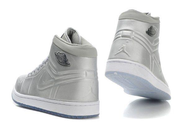 Nike Air Jordan 1 I Mens Shoes High Cheap Online Buy Silaver
