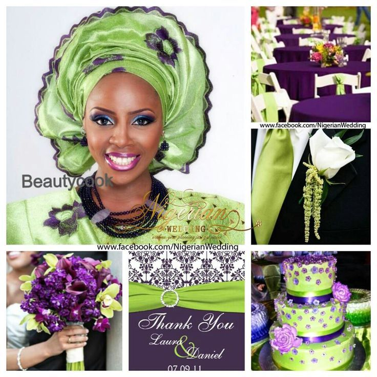 Lime Green And Purple Wedding Color Scheme