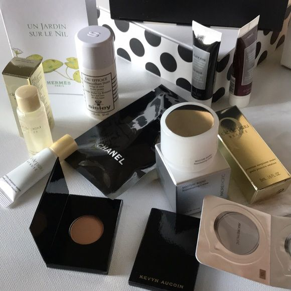 Ultimate Luxury 13-Piece Beauty Bundle Ultimate Luxury Make Up Bundle 13 Pieces  Condition: Brand New/Never Used/Never Swatched 💋  Size: Deluxe Sample Sizes  Description:  -Amore Pacific Moisture Bound Cream-8ml  -Sisley Gentle Make Up Remover 30 ml -Chanel Volume Mascara -Cle De Peau Protective Emulsion & Balancing Lotion -Kevyn Aucoin Blush & Bronzer Minis -Korres Black Pine & Wild Rose -Hermès & Atelier samples + More   Perfect for travel vacations, gym bag, office or to try!   >>> Bundle & Save with my other Sephora Listings! Sephora Makeup
