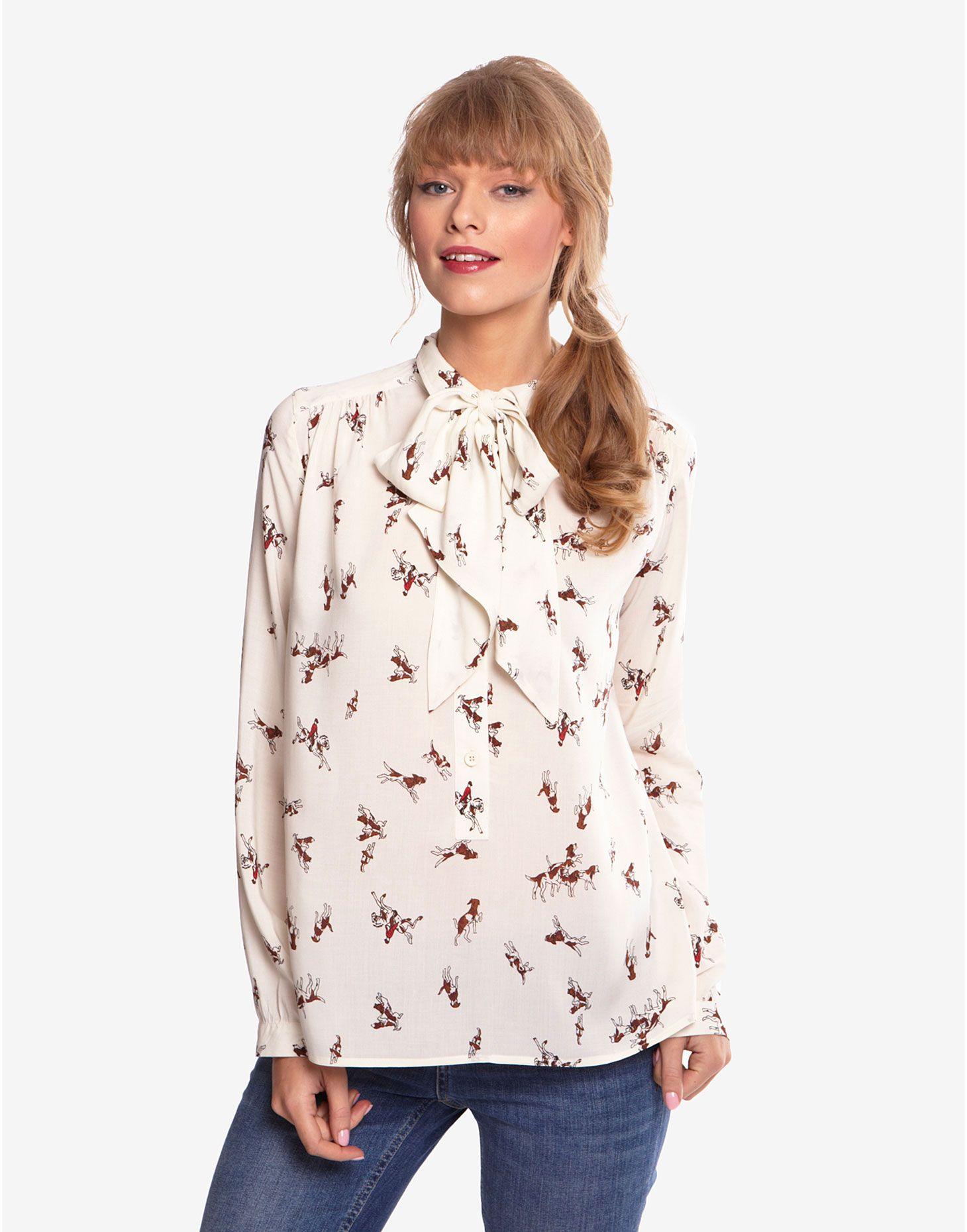 cbe9e224 SHORLEY Womens Printed Blouse. SHORLEY Womens Printed Blouse Bow Shirts ...