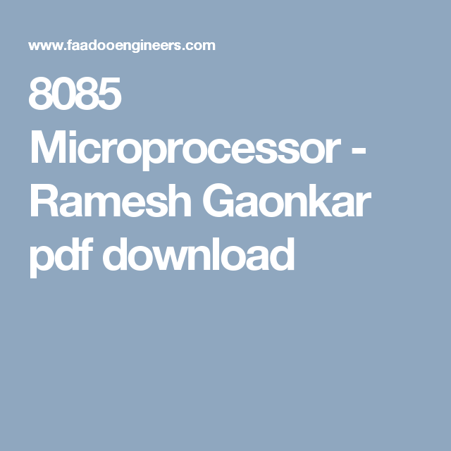 Microprocessor 8085 Ebook