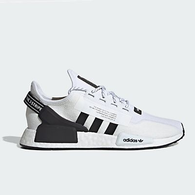 adidas nmd r1 mens white and black