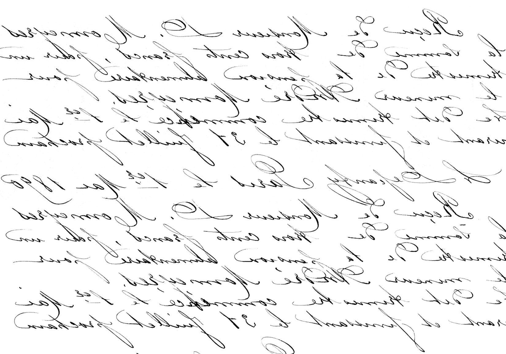 French Handwriting Transfer Printable