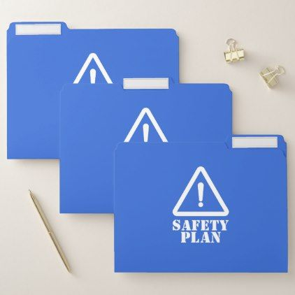 Blue Safety Plan File Folder blue styles Pinterest