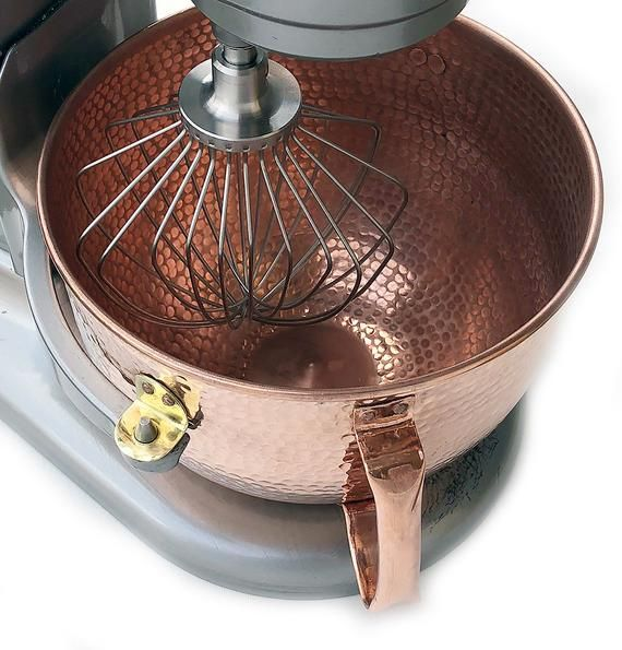 KitchenAid Solid Copper Mixing Bowl 6 QT Hand hammered Fit ...