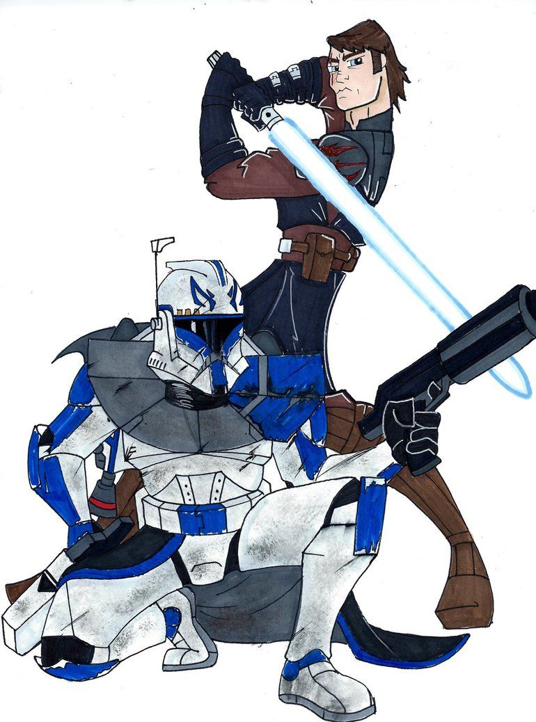 General Skywalker and Captain Rex