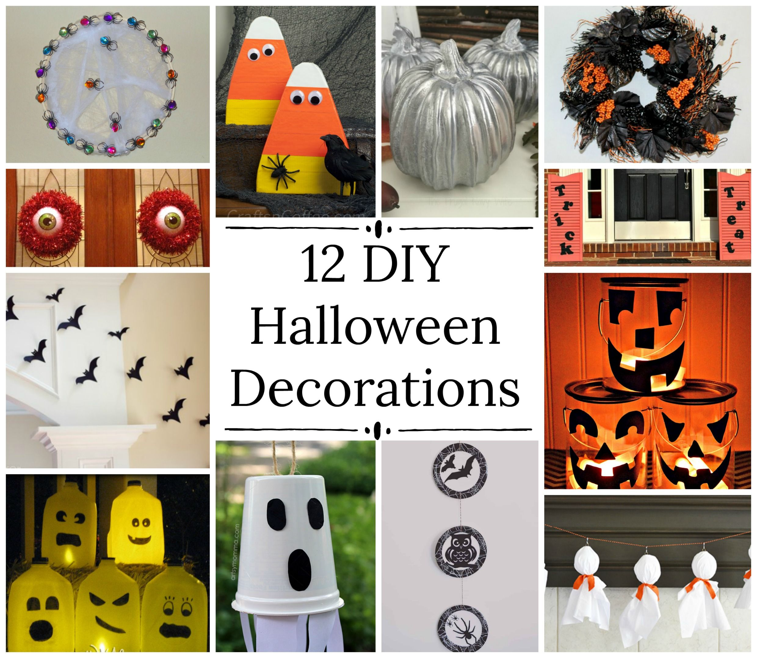 12 Easy DIY Halloween Decorations With images