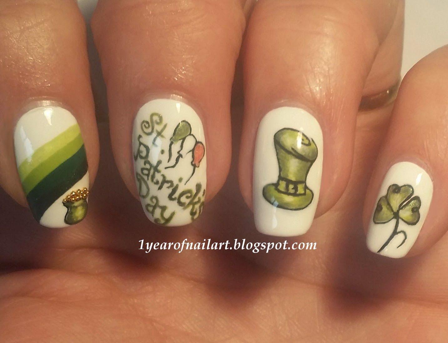 St. Patrick\'s Day nail art 1yearofnailart.blogspot.com | Nail Arts ...