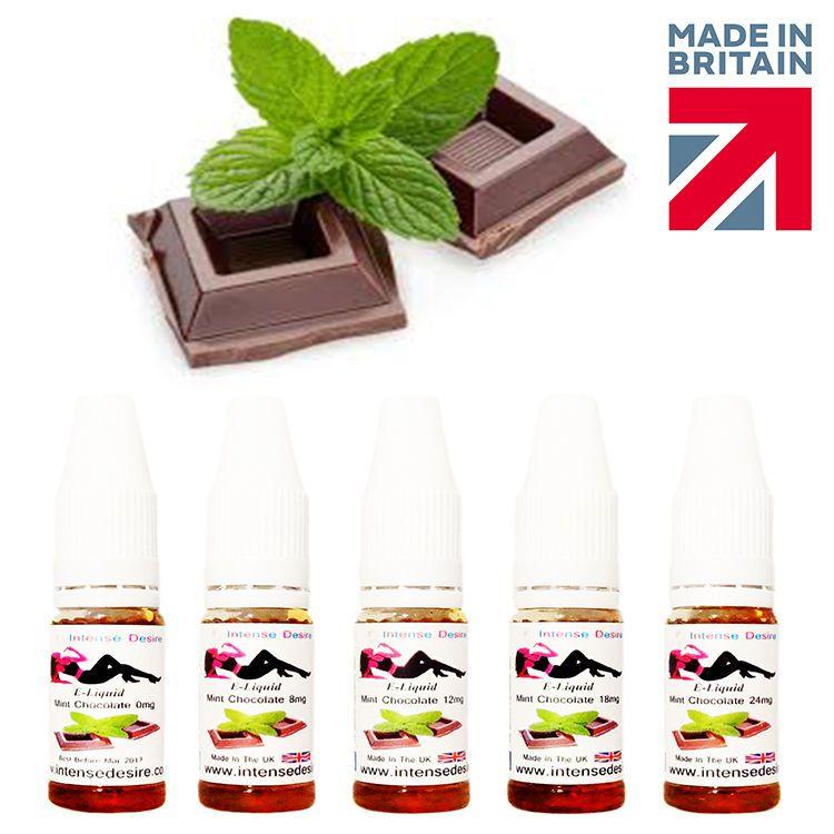 Intense Desire Premium Mint Chocolate Flavour E-Liquid / E-Juice / Vape 10ml
