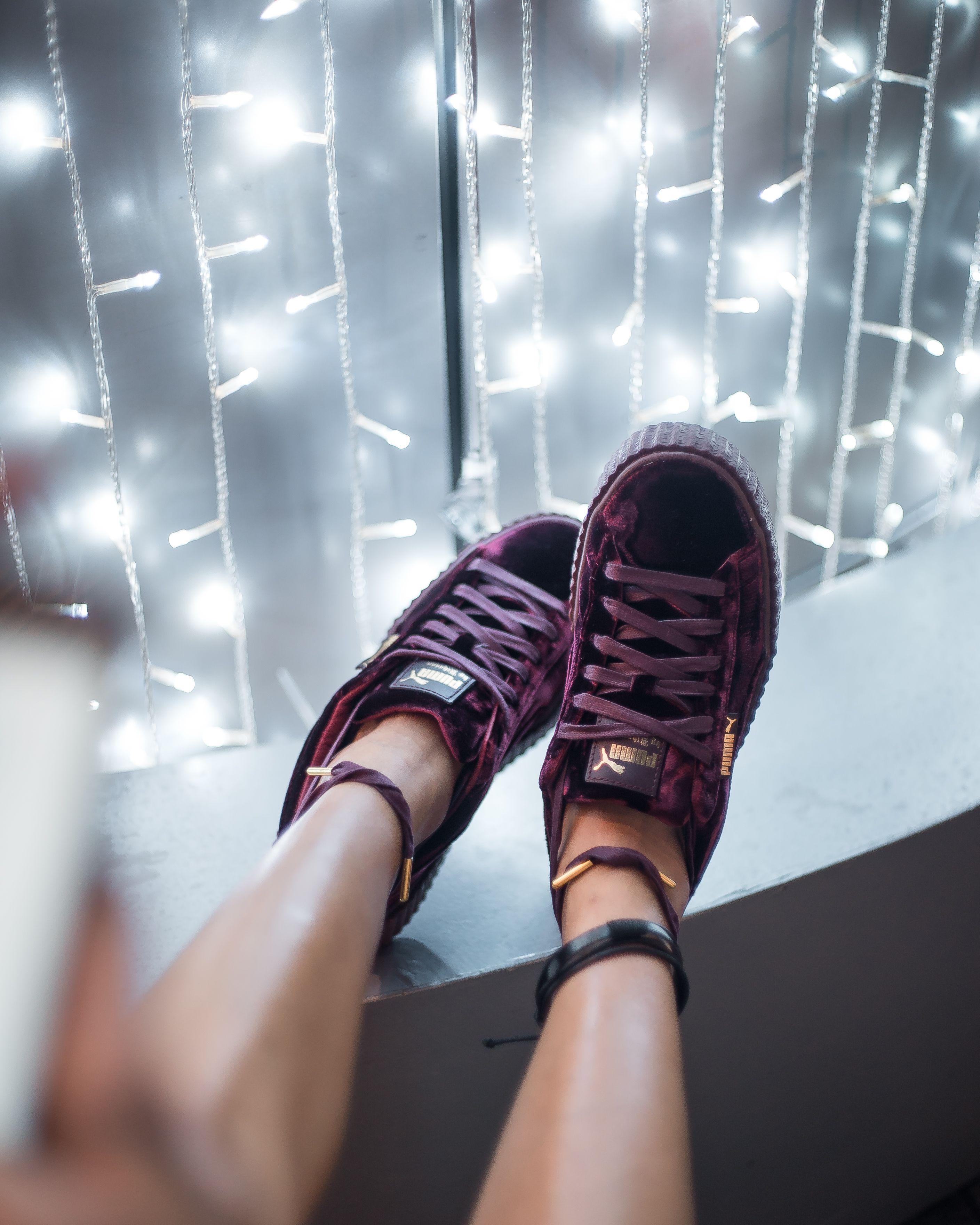 separation shoes abce8 46027 Fenty X Puma Velvet Creepers Burgundy | wardrobe | Puma ...