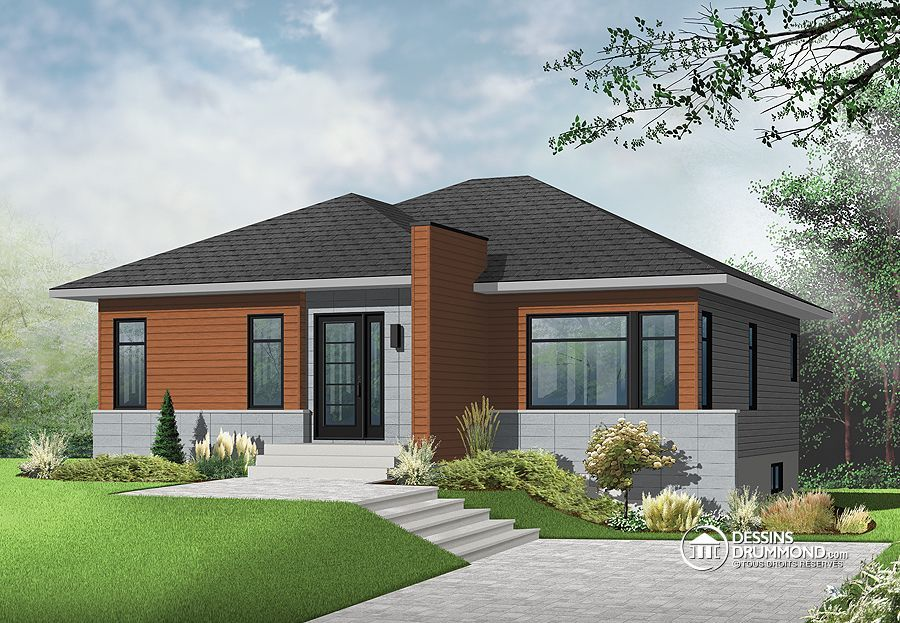 Détail du plan de Maison unifamiliale W3135 Architecture