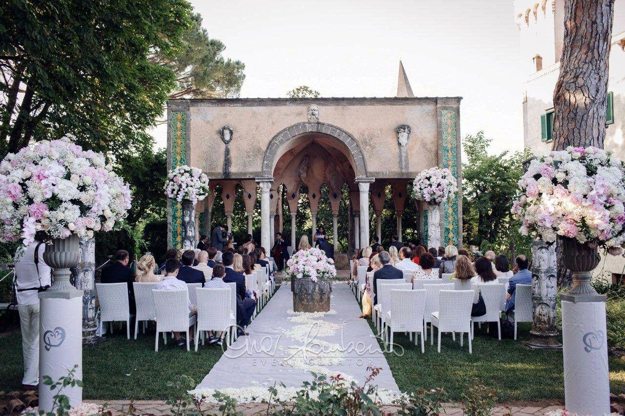Matrimonio All Aperto A Ravello Cerimonia Nuziale Delle Rose