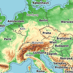 Opentopomap Topographische Karten Aus Openstreetmap Ljubljana Zagreb Bratislava