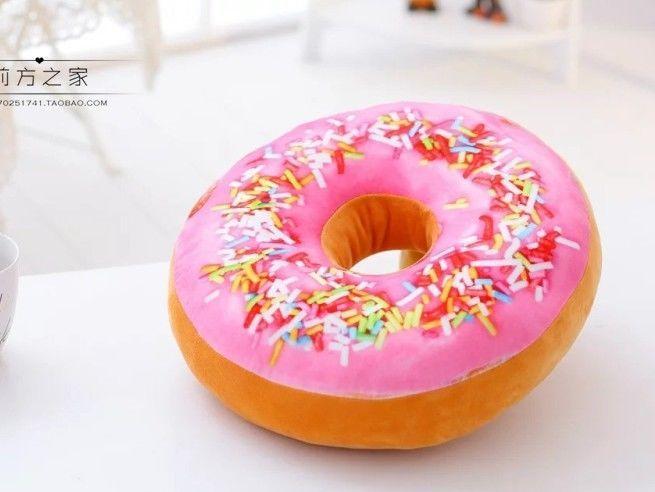 Donut Doughnut Cushion Cover Waist Pillow Case Sofa Bedroom Car Seat Home Decor