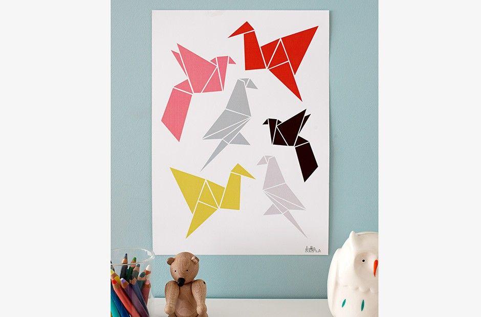 Poster – Origami A3 von Dottir & Sonur | MONOQI