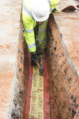 Underground Wiring Job While Landscapingelectricalundergroundjpg