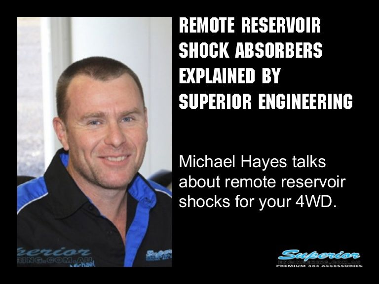 Remote Reservoir Shock Absorbers Explained by Superior Engineering #4x4 #shockabsorbers #suspension http://ow.ly/wjjyL
