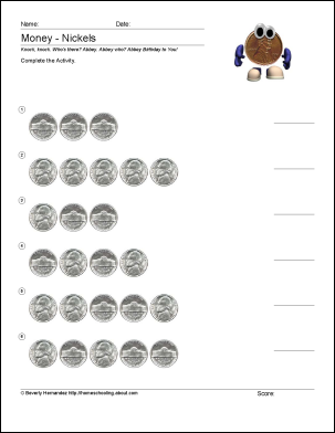 Free Math Worksheets For Counting Pennies  Math Worksheets Money