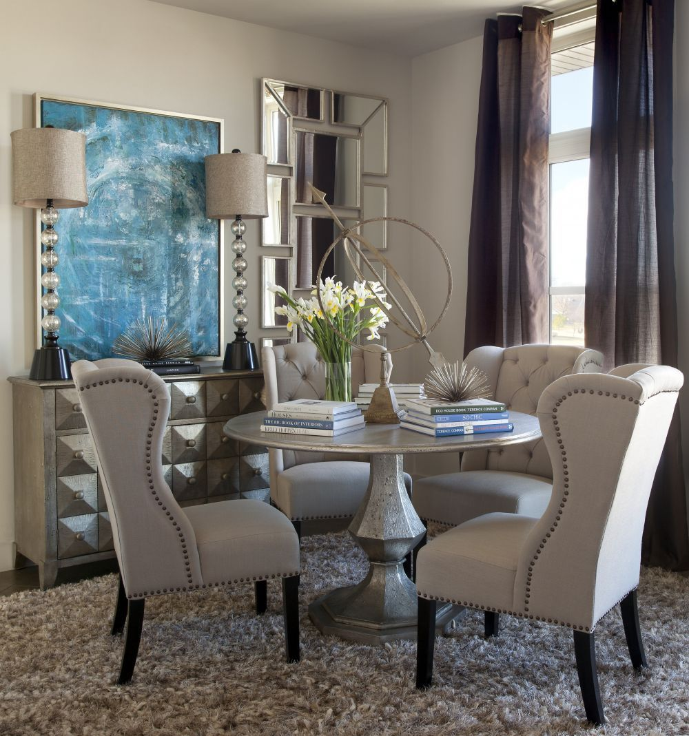 Alden Dining Table 48 Round 700 Round Pedestal Dining Table