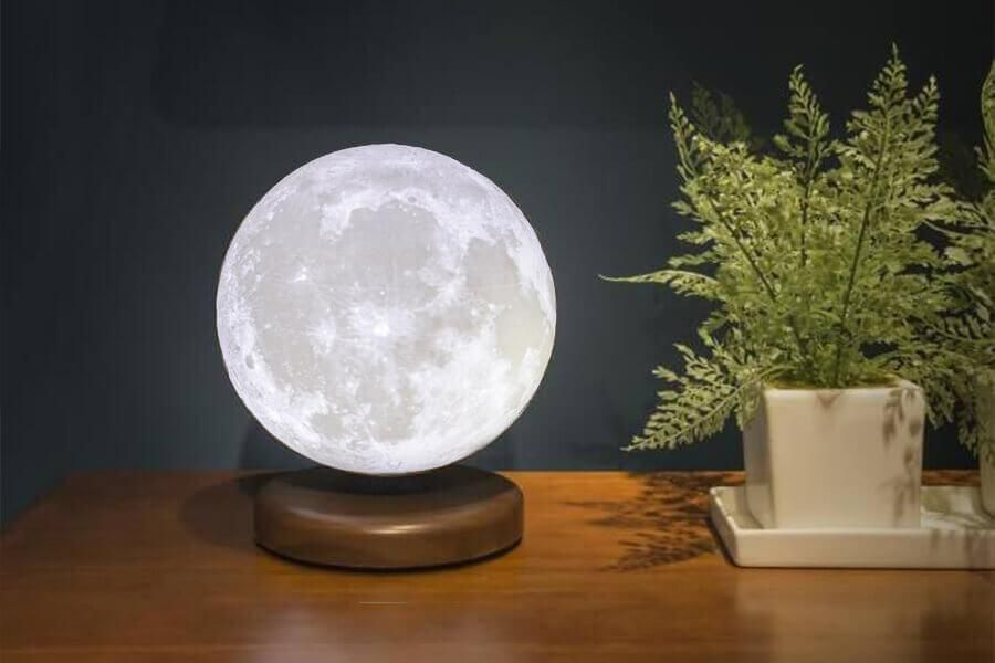 Rechargeable Magnetic Levitating 3d Moon Lamp Ledlamp Levitation Interior Design Bedroom Night Light