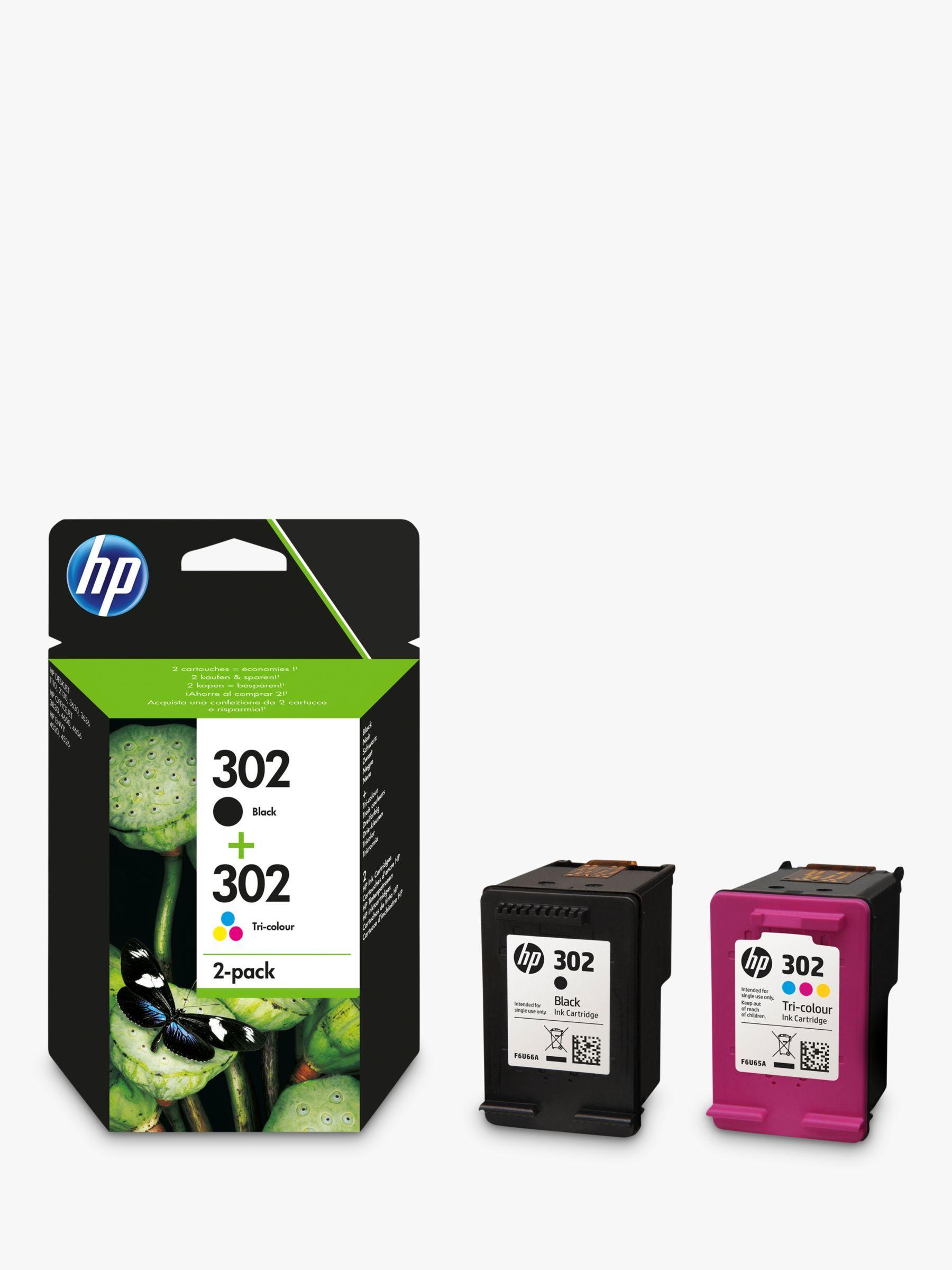 Hp 302 Ink Cartridge Black Tri Colour Multipack Pack Of 2 Ink