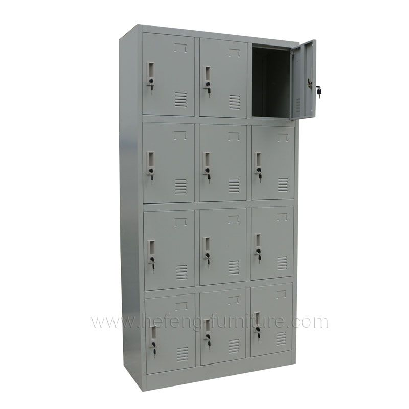 12 Door Industrial Metal Lockers Luoyang Hefeng Furniture Metal Lockers Steel Locker Locker Supplies