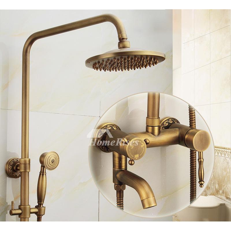 Antique Brass Bathroom Faucet Brushed Gold Single Handle Vintage Antique Brass Bathroom Faucet Bathroom Faucets Brass Bathroom