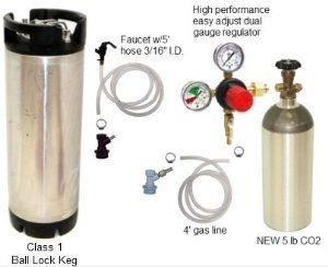 Kegging Kit Used Ball Lock 5lb Alumunim Co2 Co2 Regulator Gas