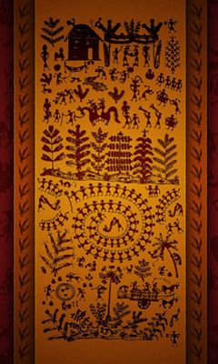 Warli Painting Mobile Wallpaper, Animal Print Rug, Wallpaper For Phone, Cell Phone Backgrounds