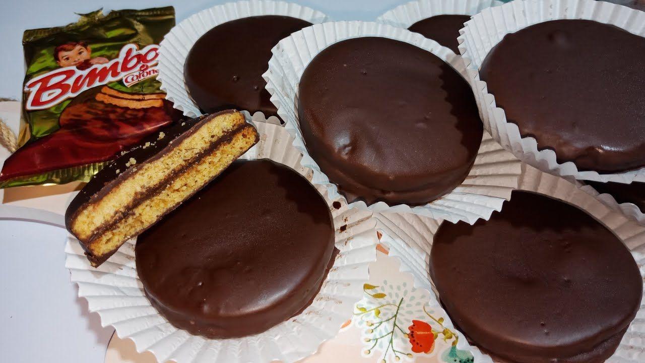 أسهل وأحلي طريقة لبسكويت بيمبو بسكويت يالشيكولاته من مطبخي فاطمه ابو Food Cooking Recipes Desserts