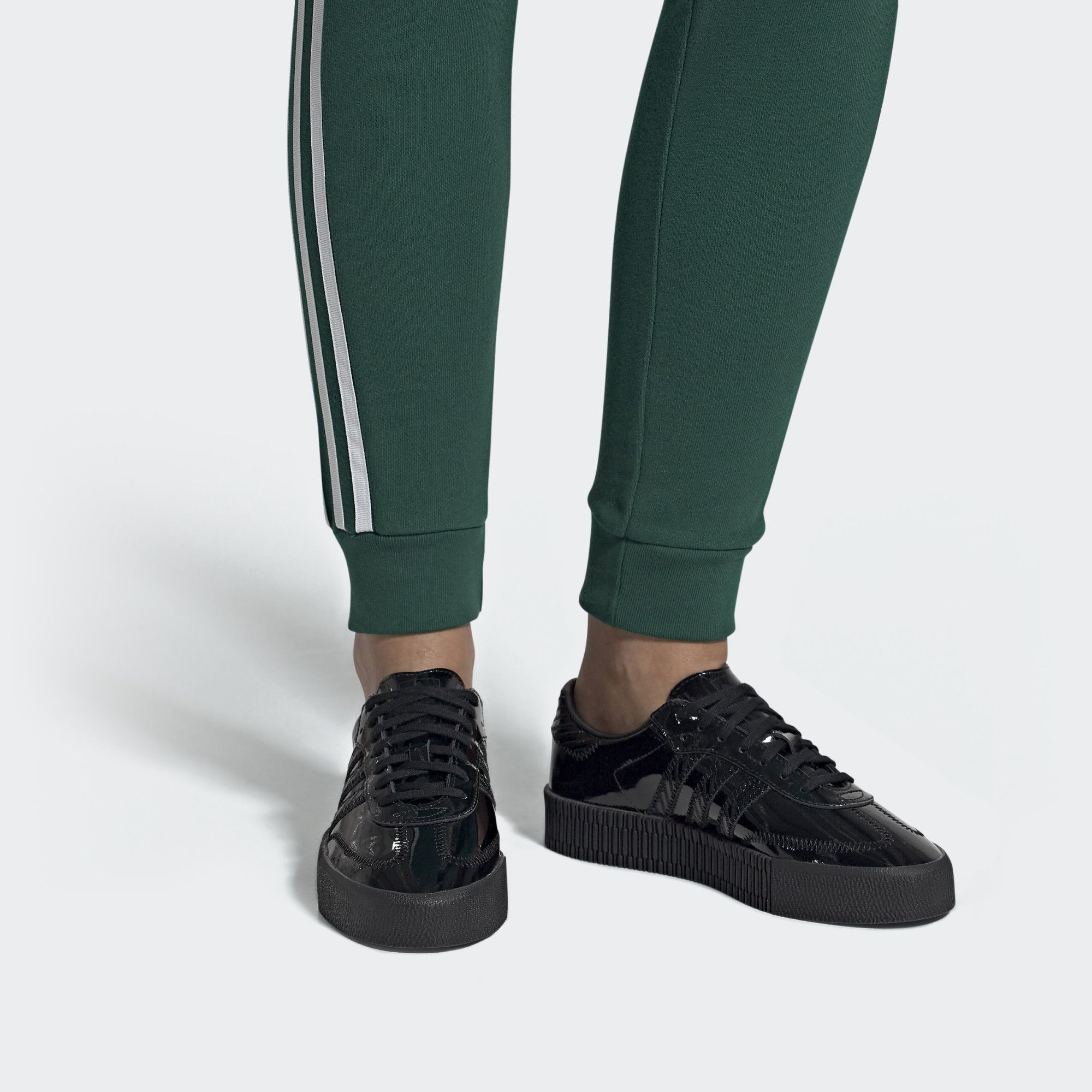 SAMBAROSE Shoes Black Womens | Shoes, Black adidas, Black shoes