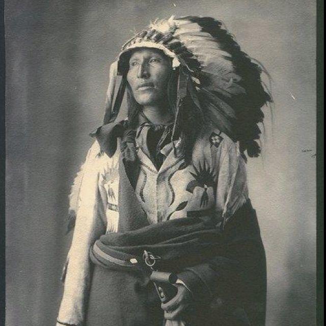   Black Horn. Sicangu. 1899.   Native American Indians
