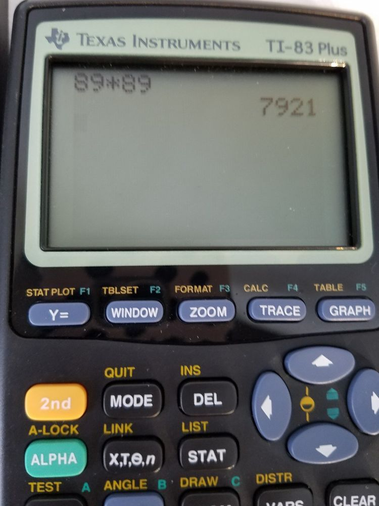 Texas Instruments TI 83 Plus Graphing Calculator Works Well Includes Batteries TexasInstruments