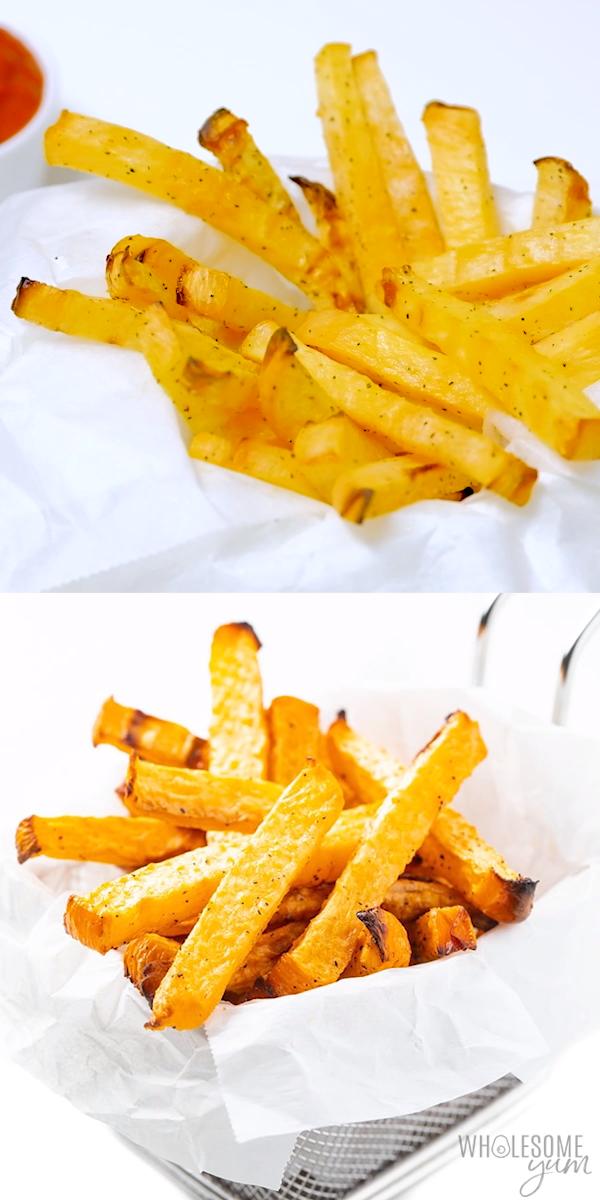 Low Carb Keto French Fries Recipe (Rutabaga Fries)