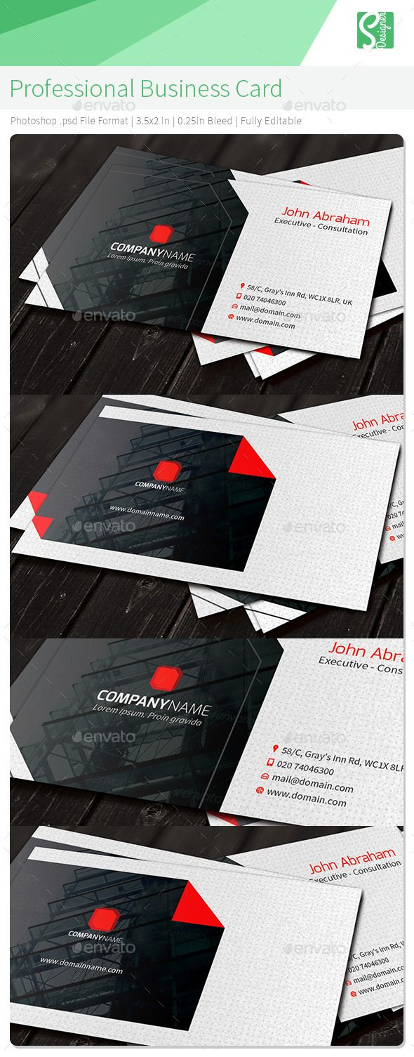 Professional Business Card | Business cards, Minimal business card ...