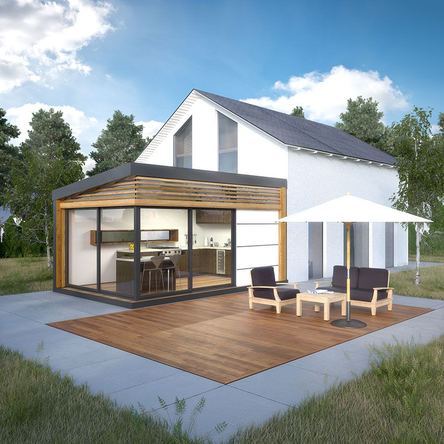 Cozyhome l 39 extension moderne et lumineuse accol e for Extension maison en l